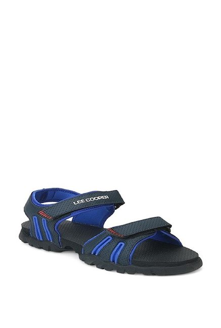 f7e3ca0e Buy Lee Cooper Dark Grey & Blue Floater Sandals for Men at Best Price @  Tata CLiQ