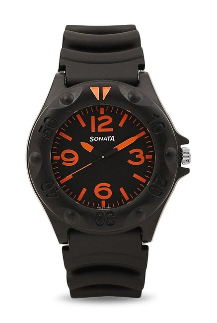 Sonata 7975PP02 Analog Black Dial Men's Watch
