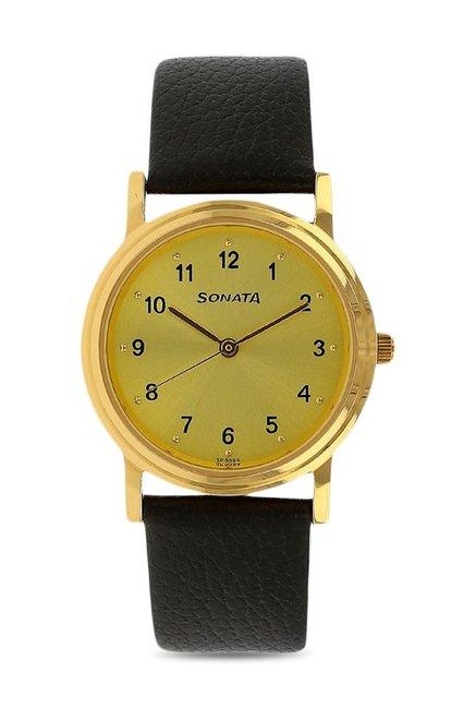 Sonata NJ1141YL01C Analog Watch for Men