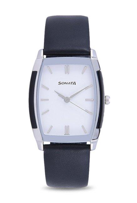 Sonata NF7080SL01C Classic Analog White Dial Men's Watch (NF7080SL01C)