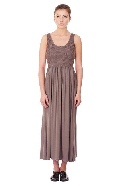 a8cdb0b942a2 Buy Label Ritu Kumar Coffee Crochet Maxi Dress for Women Online ...