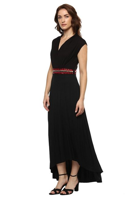 Label Ritu Kumar Black Regular Fit Maxi Dress