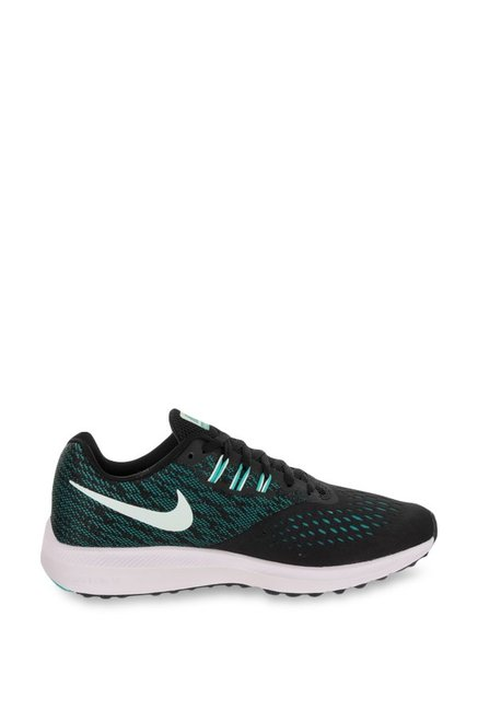 fb43f1ee19ee Buy Nike Zoom Winflo 4 Black   Sea Green Running Shoes for ...