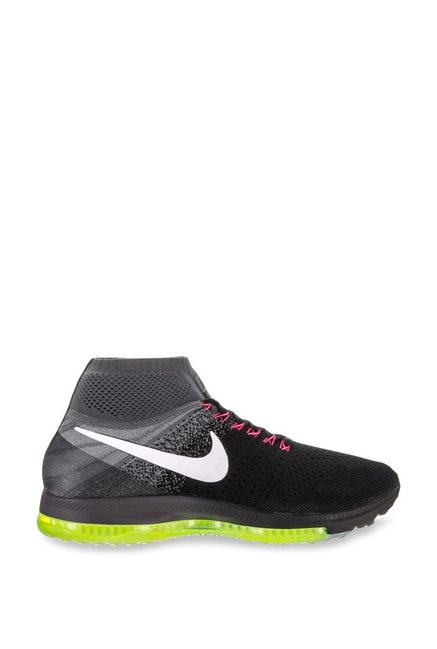 96db114af99e5 Buy Nike Zoom All Out Flyknit Black Running Shoes for Men at Best ...