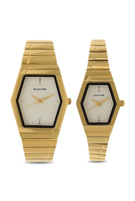 Sonata NK70838074YM01 Couple Analog Watch