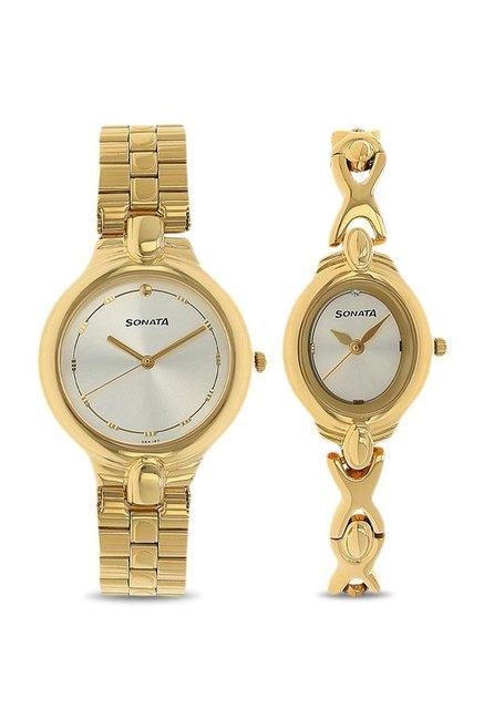 Sonata NK70848952YM01 Couple Analog Watch