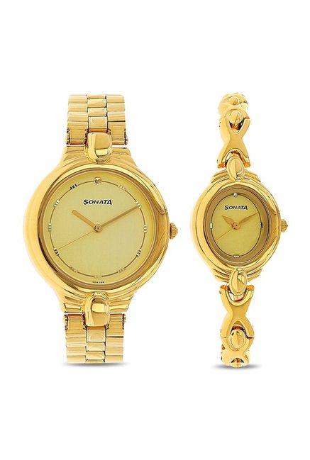 Sonata NK70848952YM02 Couple Analog Watch