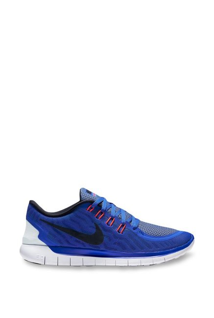 9c5f00b6e6a3 Buy Nike Free 5.0 Blue Running Shoes for Women at Best Price   Tata CLiQ