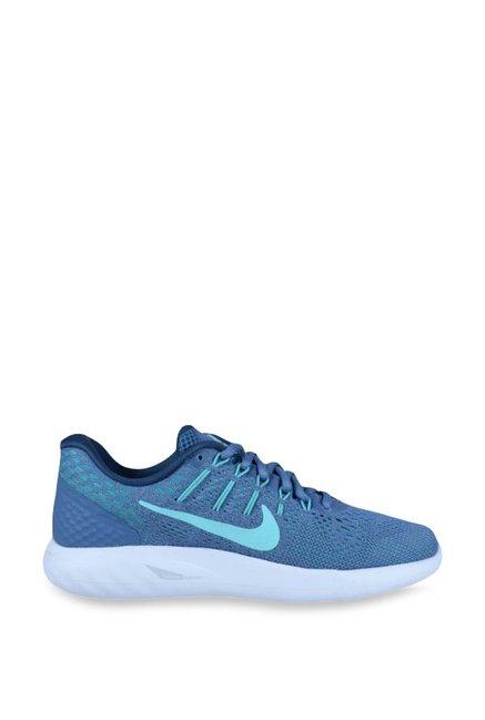 premium selection 1d3e5 ba539 Buy Nike Lunarglide 8 Blue Running Shoes for Women at Best ...