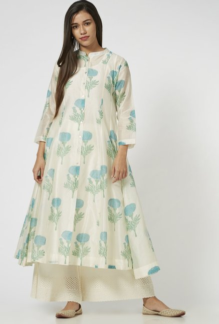 Zuba by Westside Turquoise Kurta with Inner