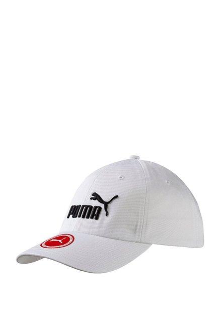 Puma ESS White Applique Cotton Baseball Cap
