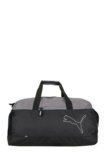 Buy Puma Echo Black   Quiet Shade Printed Polyester Duffle Gym Bag Online  At Best Price   Tata CLiQ 06ab36246c074