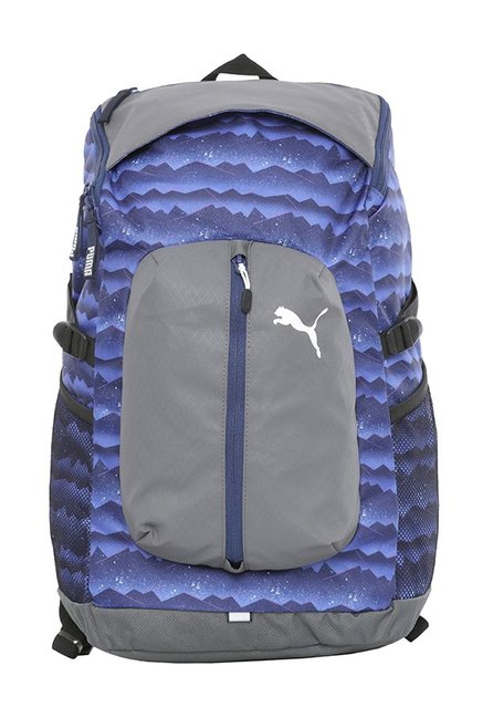 1fac8809ced5 Buy Puma Apex Blue Depths Printed Polyester Laptop Backpack ...