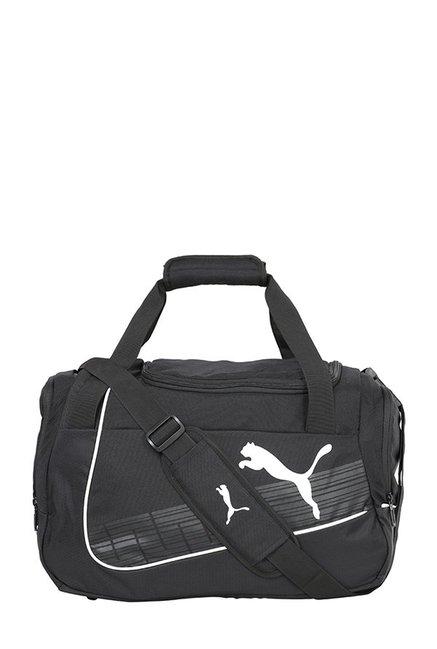 2cff9b966c6e Buy Puma Evopower Black Striped Polyester Duffle Gym Bag Online ...