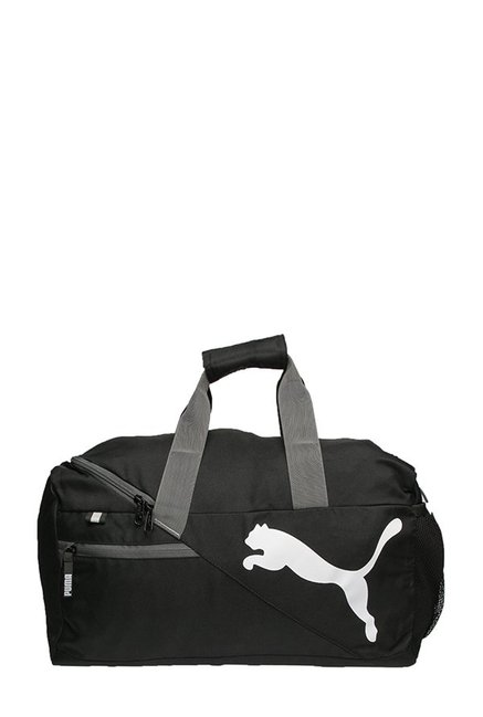 4f52c12ad31c Buy Puma Fundamentals Black Solid Polyester Duffle Gym Bag Online ...