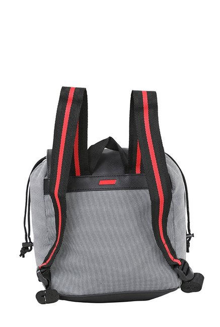 Buy Puma Ferrari LS Zainetto Black   White Textured Backpack For ... b8ab0508ba7df