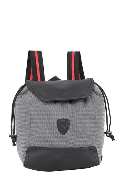 Buy Puma Ferrari LS Zainetto Black   White Textured Backpack For Women At  Best Price   Tata CLiQ 7f2c2342a3441