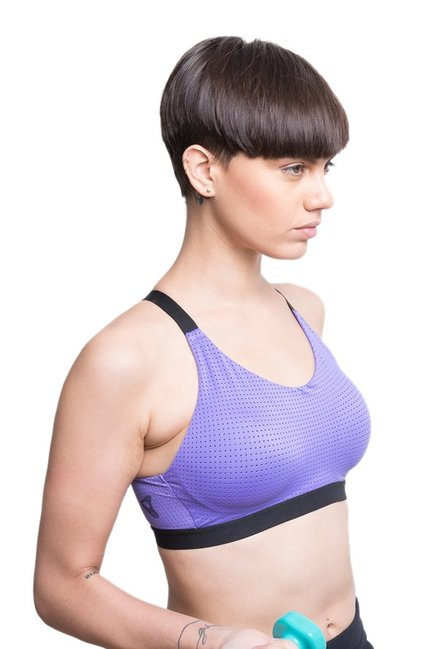 Zelocity By Zivame Purple Non Wired Padded Bra
