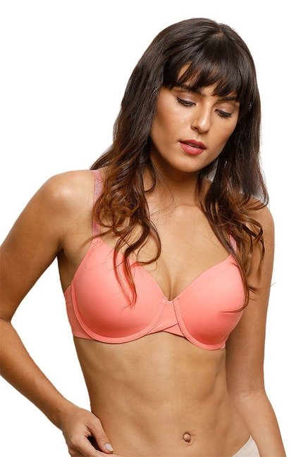 Zivame Peach Under Wired Padded Bra