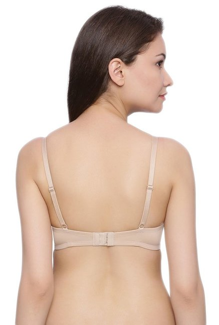 Zivame Beige Under Wired Padded Bra