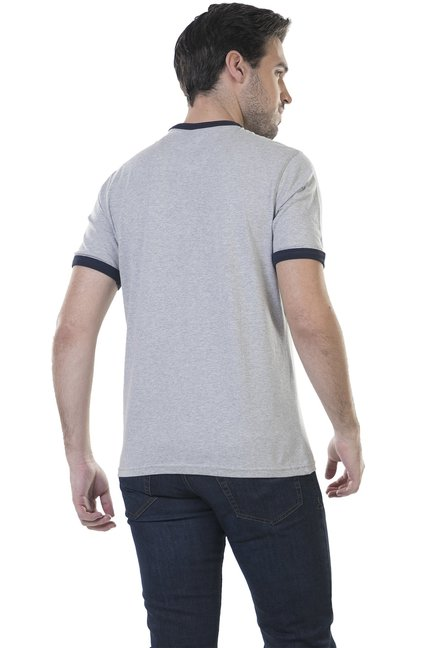 BHPC Light Grey Crew Neck Cotton T-Shirt