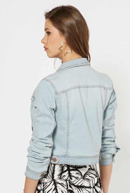 b79aa031f Buy Nuon by Westside Light Blue Denim Jacket for Women Online @ Tata ...