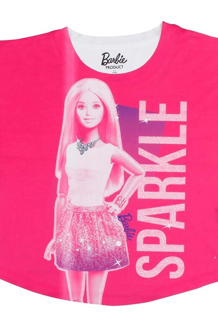 7086c0054 Buy Barbie Pink Graphic Print Top for Girls Clothing Online @ Tata CLiQ