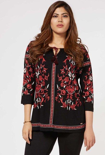 1371f226b Buy Gia by Westside Black Ashly Top for Women Online   Tata CLiQ