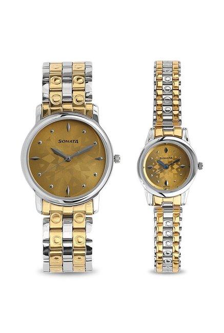 Sonata NK10138925BM01 Couple Analog Watch