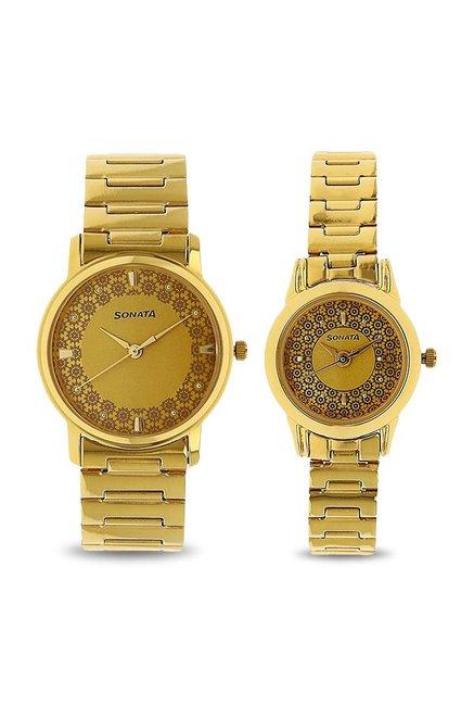 Sonata NK10138925YM01 Analog Couple Watch (NK10138925YM01)
