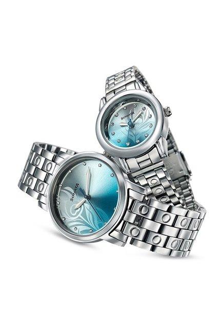 Sonata NK10138925SM01 Couple Analog Watch
