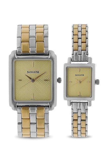 Sonata NK70538080BM01 Couple Analog Watch
