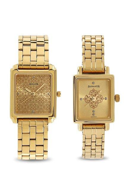 Sonata NK70538080YM01 Analog Couple Watch (NK70538080YM01)