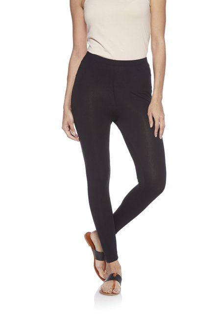 Utsa by Westside Black Cropped Leggings
