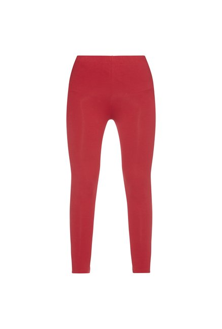 Utsa by Westside Red Cropped Leggings
