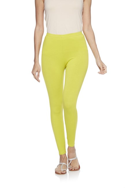 Utsa by Westside Lime Green Cropped Leggings