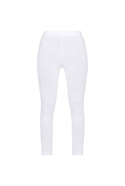 Utsa by Westside White Cropped Leggings