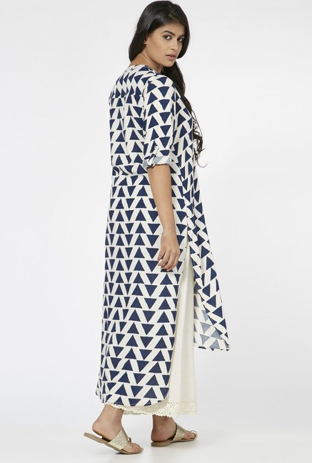 Utsa by Westside Indigo Triangle Pattern Kurta