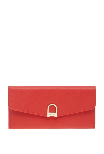 Esbeda Red Solid Flap Wallet