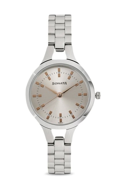 bc6d03fa7f2 Buy Sonata 8151SM01 Steel Daisies Analog Watch for Women at Best Price    Tata CLiQ