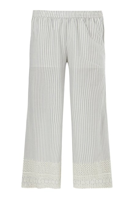 Zuba by Westside Indigo Striped Palazzos