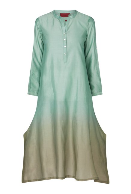 Zuba by Westside Marine Blue Kurta with Chemise