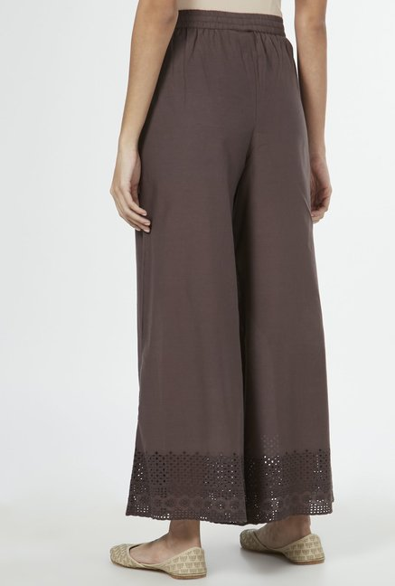 Zuba by Westside Dark Grey Palazzos