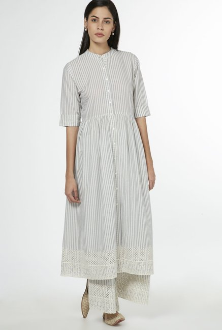 Zuba by Westside Indigo Striped Kurta