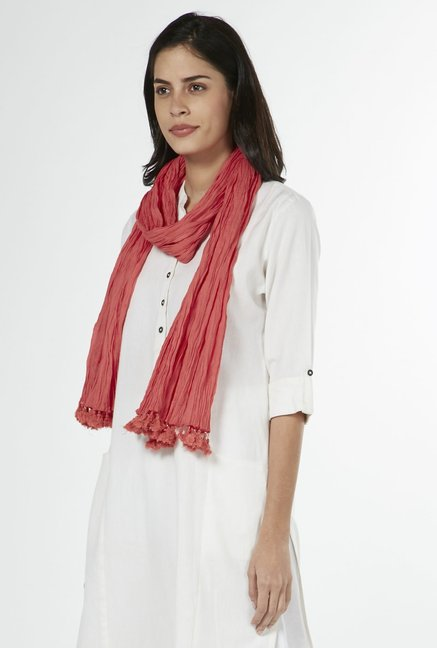 Utsa by Westside Coral Crushed Stole