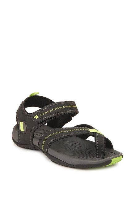341b6a2ed9ca Buy Fila Novio Black   Green Floater Sandals for Men at Best Price ...