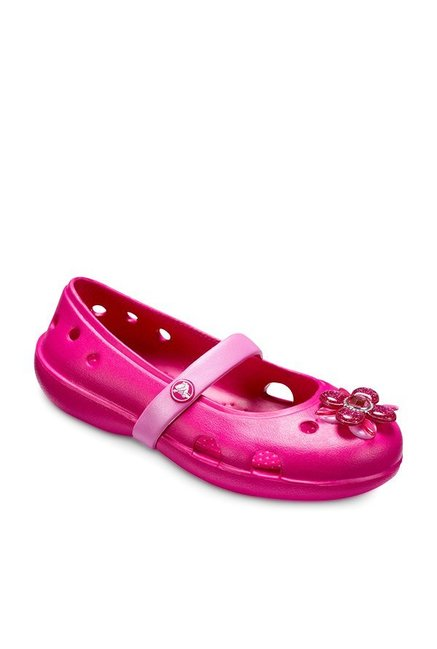 9cfc31640 Buy Crocs Kids Keeley Springtime PS Candy Pink Mary Jane Shoes for Girls at  Best Price   Tata CLiQ