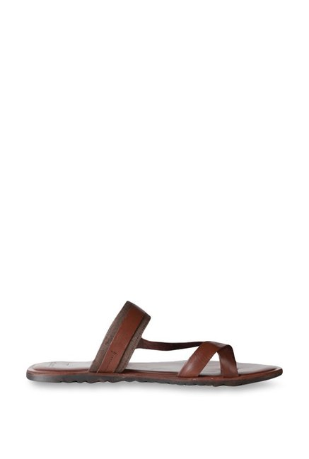 73da59fb3aa8 Buy Van Heusen Brown Toe Ring Sandals for Men at Best Price @ Tata CLiQ