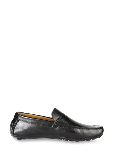 76f380522ae8 Buy Van Heusen Black Casual Loafers for Men at Best Price   Tata CLiQ