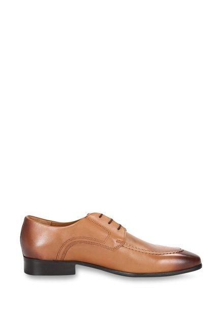 Buy Van Heusen Light Brown Derby Shoes for Men at Best Price   Tata CLiQ 4118d7f49